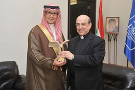 Reception of the Head of the Saudi Delegation and Chargé d'Affaires of the Embassy of the Kingdom of Saudi Arabia in Beirut Mr. Walid Al-Bukhari