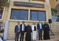 "Opening of ""Georges N. Frem Library - Conservation & Restoration Center"""