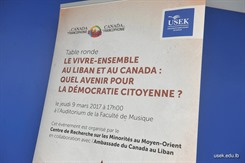 Coexistence in Lebanon and in Canada: What Does the Future Hold for Democratic Citizenship?